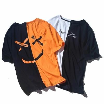 選べる5サイズ♪ユニセックスで着れるインパクト大のセパレートスマイルTシャツです