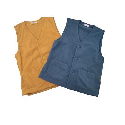 これからの季節にピッタリ!着やすく着せやすい、柔らかな手触り、軽くて暖かいフリースベスト