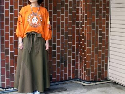 袖のボリュームがポイント♪ リメイクバルーンスリーブTシャツ