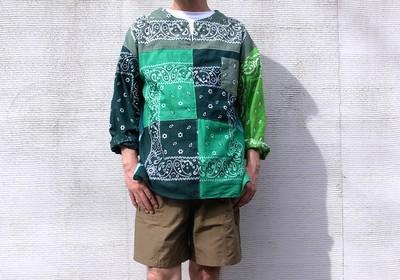 ユーズドバンダナを再構築したリメイクバンダナシャツ