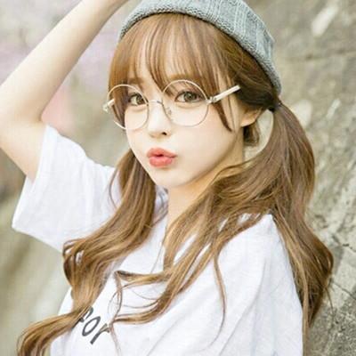 お洒落上級女子のマストバイ☆レトロチックなビッグ!丸メガネ