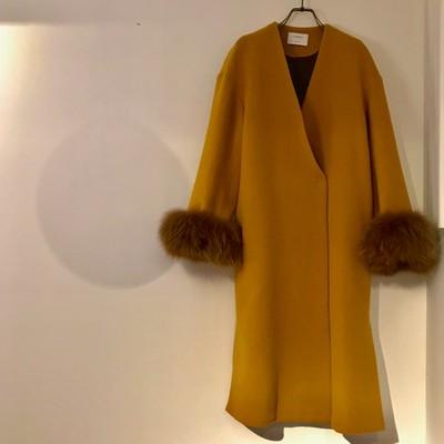 1着は持っておきたいカラーコート!ウール100%で暖かさも◎