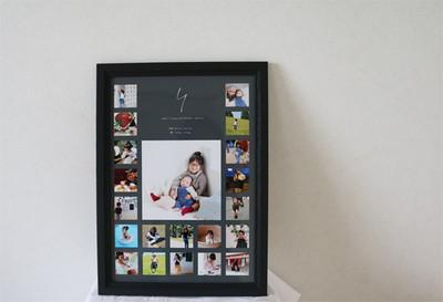 お子様の写真をすっきりインテリアに!成長記録になる「フォトポスター」