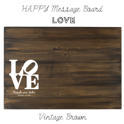 ハッピーウェディング!ゲストの方にメッセージを書いてもらい出来上がるウェルカムアイテム♪ LOVE♡
