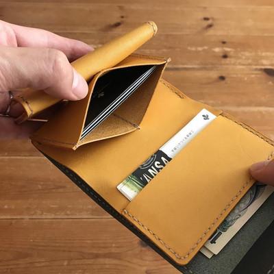 クラウドファンディング で目標金額の397%を達成した3つ折り財布