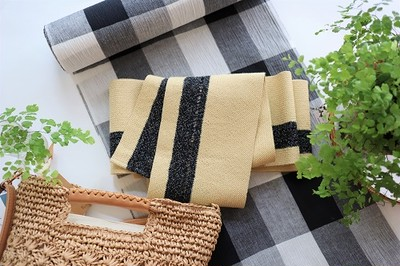 素材を大事に。浴衣にあわせる半巾帯の選び方。