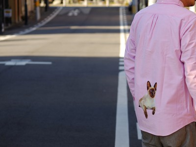 """FP B.D L/S SHIRT (PINK) """"SIAMESE CAT"""" for 1F STORE"""