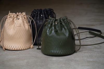 """i ro se  net bucket bag mini """"limited color KHAKI"""""""