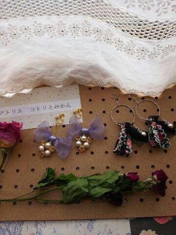 トレンドの春コーデにプラスαで さらに可愛さupのイヤリングできました!