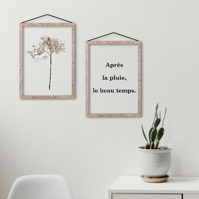 【人気商品】まるで押し花を閉じ込めたような透明ポスター。
