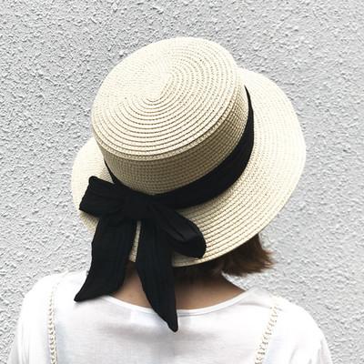後ろ姿もぬかりなし♫カンカン帽で可愛く紫外線対策を♡