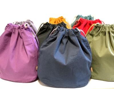 5通りの持ち方ができる巾着バッグ