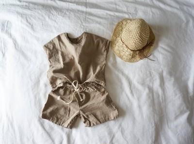 夏に着たい‼ summer セットアップ♡ リネン風で適度なシワが◎