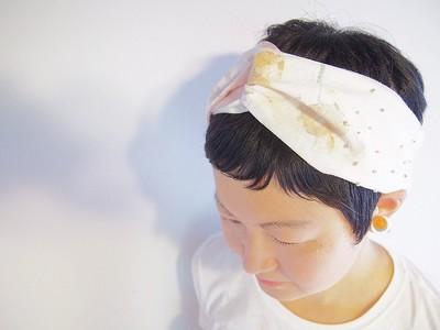 子供と描くテキスタイル。ドローイングと刺繍が魅力の唯一無二のヘアバンド。