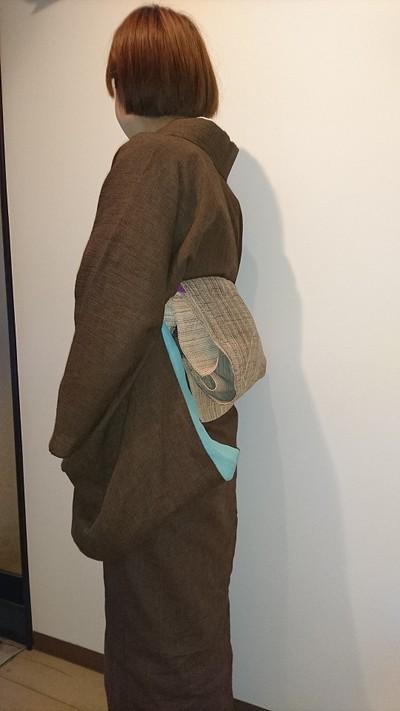 今までなかったから、作りました!夏以外も着られてジャブジャブ洗えて、最高にオシャレな色の本麻上布です