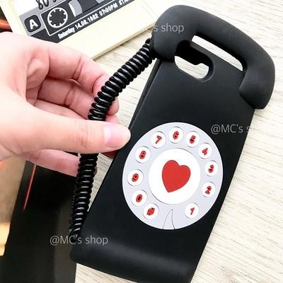 あの黒電話が可愛くリバイバル♡レトロでバブリーなシリコンiPhoneケースです