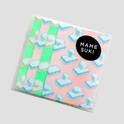 お正月にぴったり!【MAMESUKI】モダンなお餅のデザインのポチ袋セット