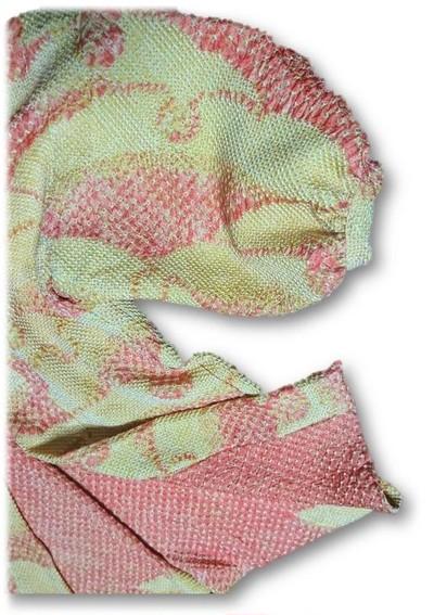 装絞り羽織でカーディガンジャケットを作ってみました