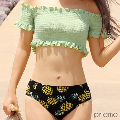 パイナップル柄がカワイイ♡夏気分にぴったりのトロピカルな水着でとびっきりキュートなビーチスタイル!