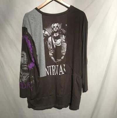 [Weyep]remake rocktee front & right sleeve print t