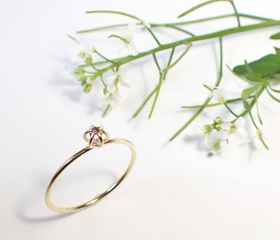春の新作♡ころころした小さなお花のようなリング