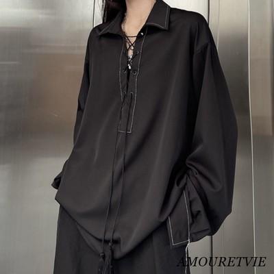 ユニセックス対応のモダンな韓国系オーバーシャツが登場☆