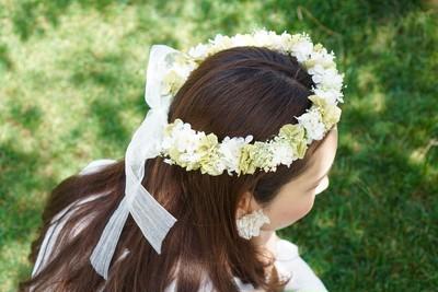 結婚式、特別な日にはナチュラル可愛い花冠で決まりです♡
