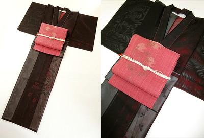 当店オリジナルツートーン着物に「紗」の着物を追加しました!個性的な紗でこの夏も着物三昧!