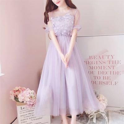 夏に映えるパープルカラーのプリンセスドレス♡プチプラで手に入る、お姫様みたいなふわふわドレス