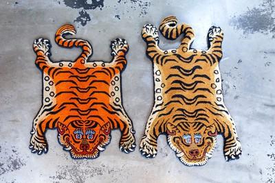 チベタンタイガーラグ:本物と模造品との違い
