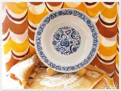 旧東ドイツ食器に多く使用の、青色が特徴的なプレート