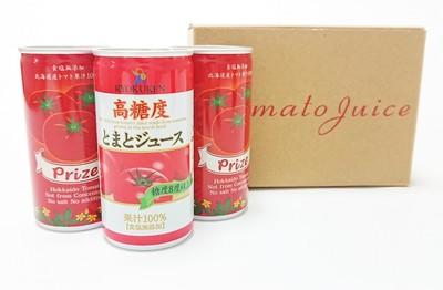 北海道の契約生産者のトマトを使ったジュースは甘くてとっても濃厚。食塩不使用です。