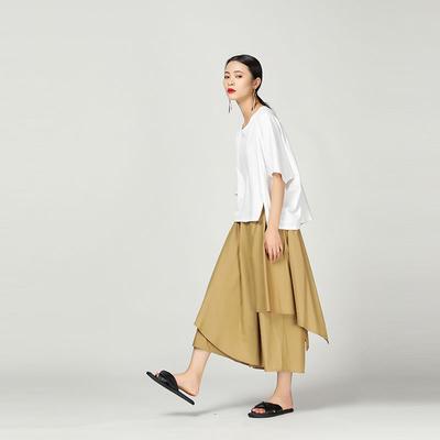大人のモードカジュアル【 Layered asymmetry long skirt 】