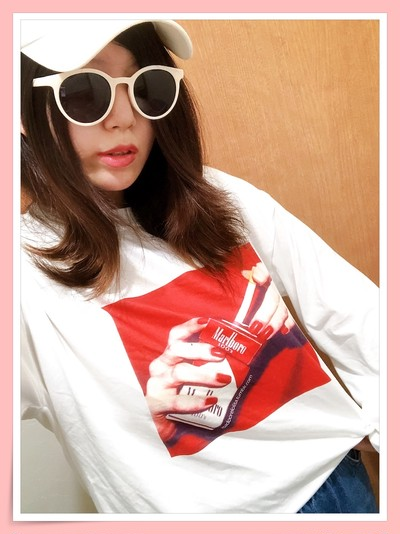 当店/大人気アイテムのご紹介です♡マルボロデザインTシャツ♡