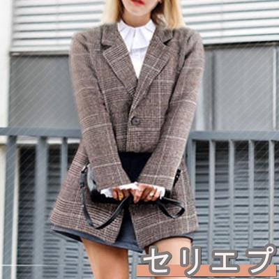 今旬流行の80年代ファッションを取り入れたグレンチェックのテーラードジャケット!!