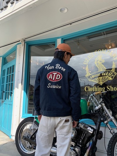 "AT-DIRTY(アットダーティー)/""ATD UNION JACKET"" (NAVY)"