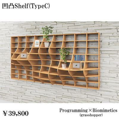 プログラミングと家具のデザイン07~凹凸Shelf~棚、壁掛けCタイプ