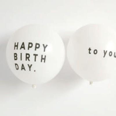HAPPY BIRTH DAYバルーンでお誕生日をもっとおしゃれにHAPPYに♪