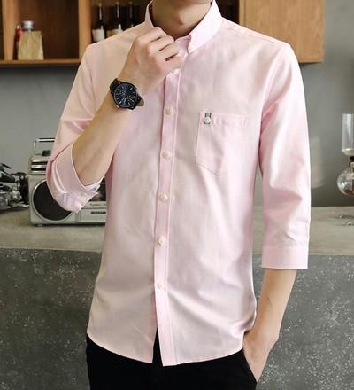 yシャツ メンズ オックスフォード シャツ メンズ 七分袖 長袖 無地 春 夏 秋 冬