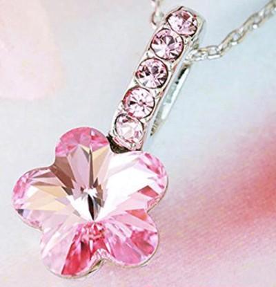 『天空の聖桜』ジェム さくら スワロフスキークリスタル ネックレス