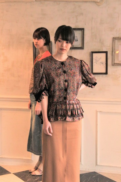 Persian Folklore Print Pleated Top
