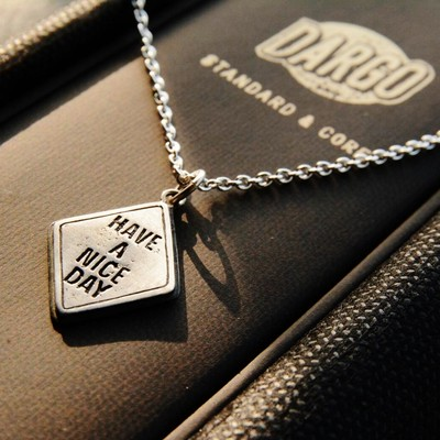 """【""""HAVE A NICE DAY"""" Traffic Silver Necklace】"""