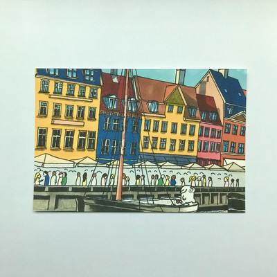 お手軽アート。空間を飾るイラストポストカード