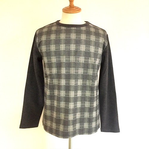 Switch JQ Check Crew Neck Cut & Sewn Charcoal