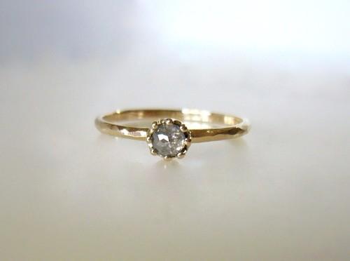 W様オーダーメイド  ナチュラルダイヤのK10の指輪