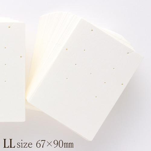 アクセサリー台紙 LL 無地 ネックレス ピアス ブレスレット用 67×90mm 30枚 D017.D050
