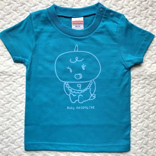 baby ONSO9LINE KIDS Tシャツ ターコイズブルー×スカイブルー