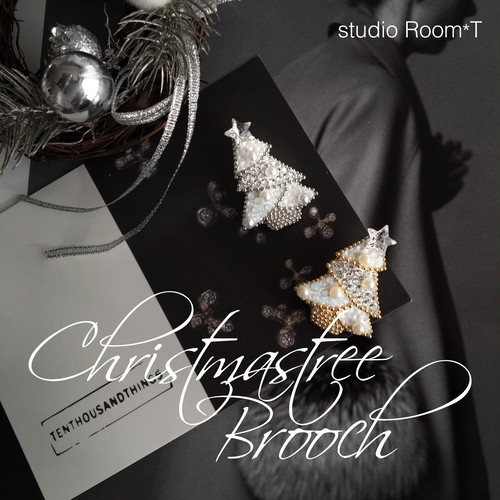【brooch】christmas tree