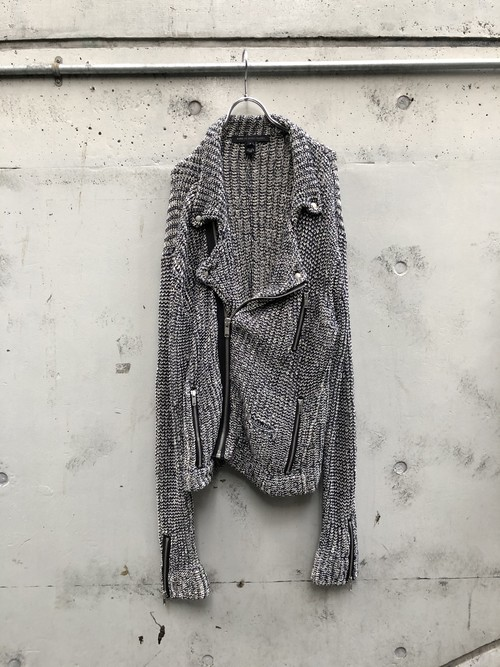 【USED】MARC BY MARC JACOBS / ニットライダースジャケット
