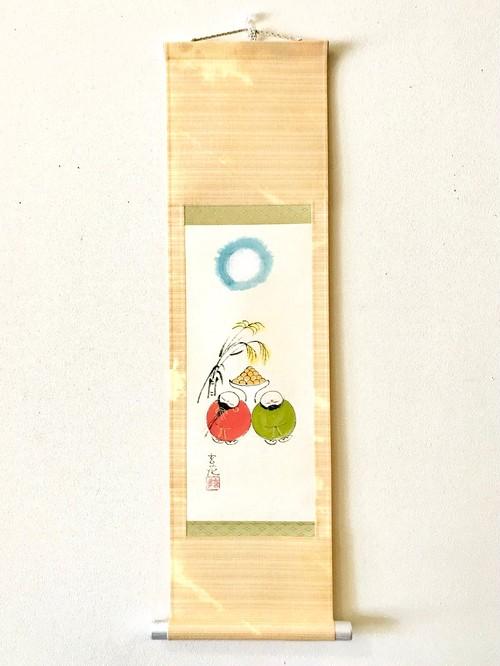 今井玄花 ミニ掛軸「お月見」立型